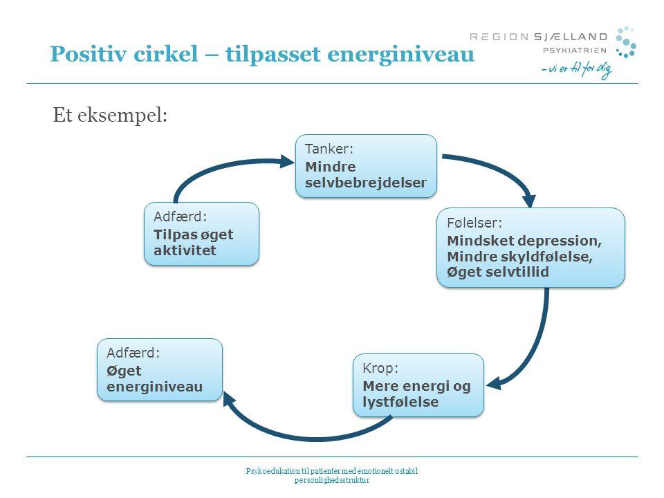 Positiv cirkel – tilpasset energiniveau
