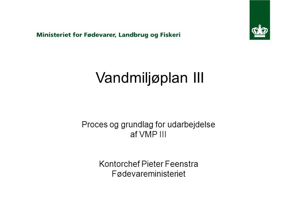 Vandmiljøplan III Proces og grundlag for udarbejdelse af VMP III