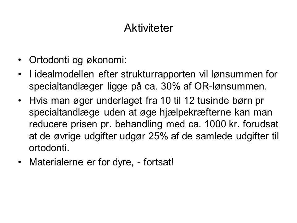 Aktiviteter Ortodonti og økonomi: