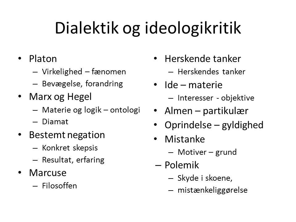 Dialektik og ideologikritik