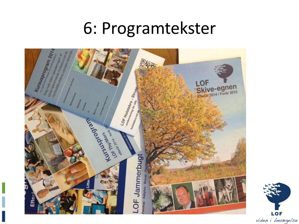 6: Programtekster