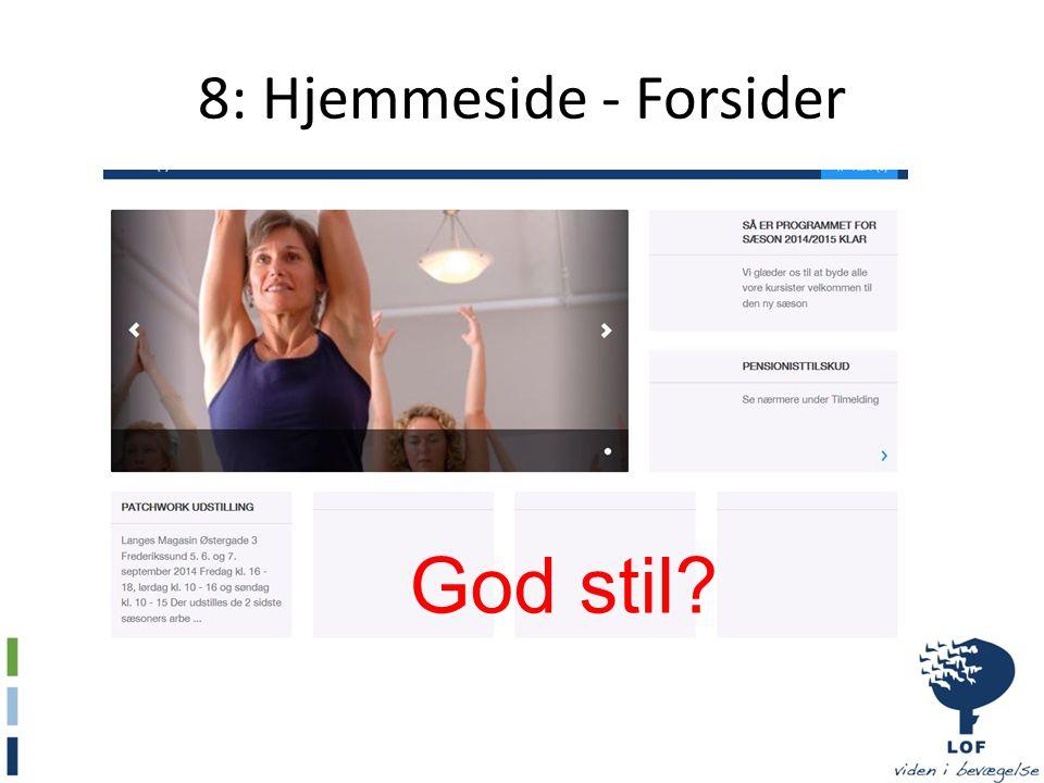 8: Hjemmeside - Forsider