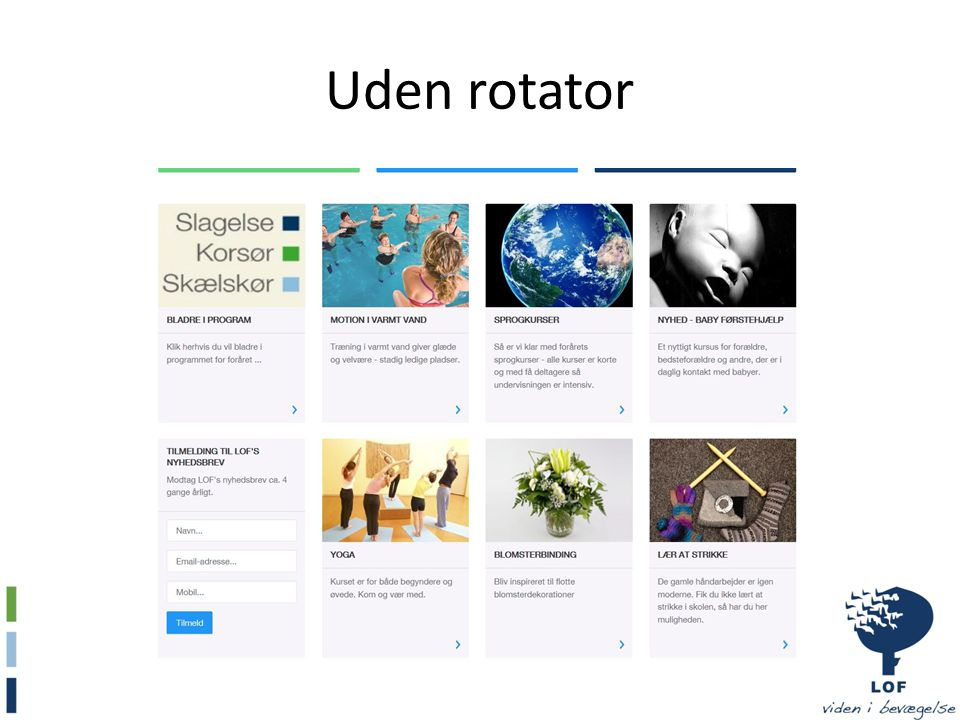 Uden rotator
