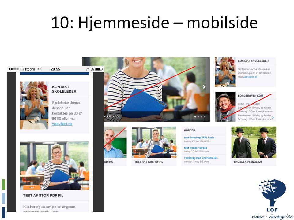 10: Hjemmeside – mobilside