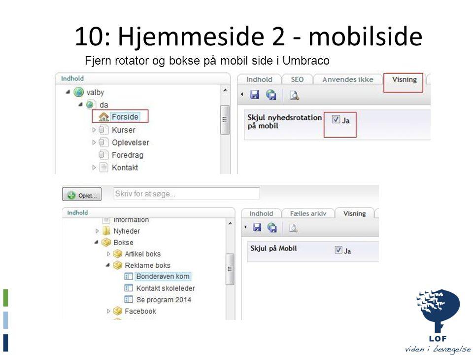 10: Hjemmeside 2 - mobilside