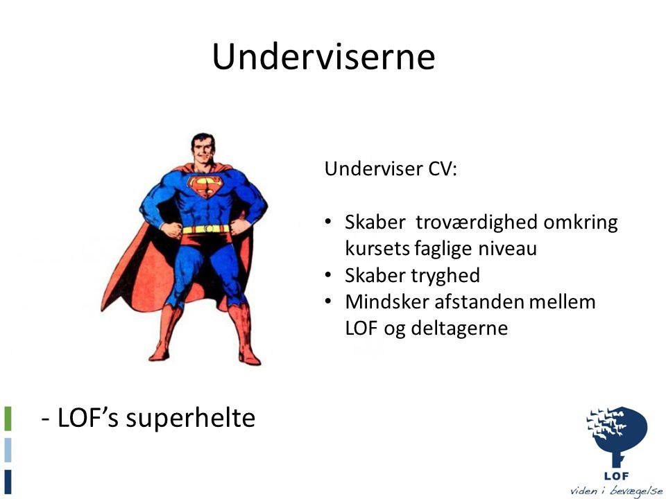 Underviserne - LOF's superhelte Underviser CV: