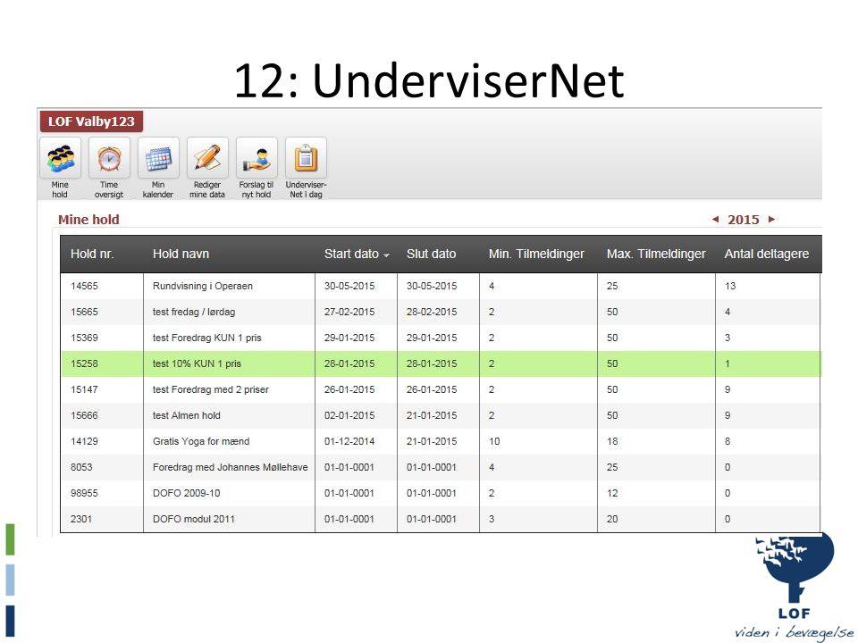 12: UnderviserNet