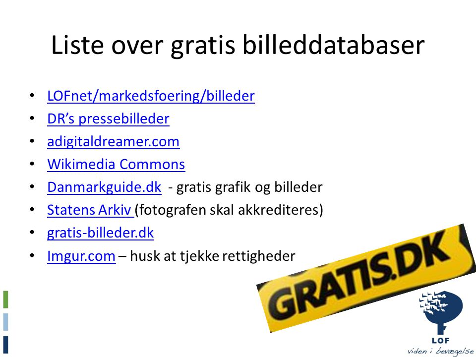 Liste over gratis billeddatabaser