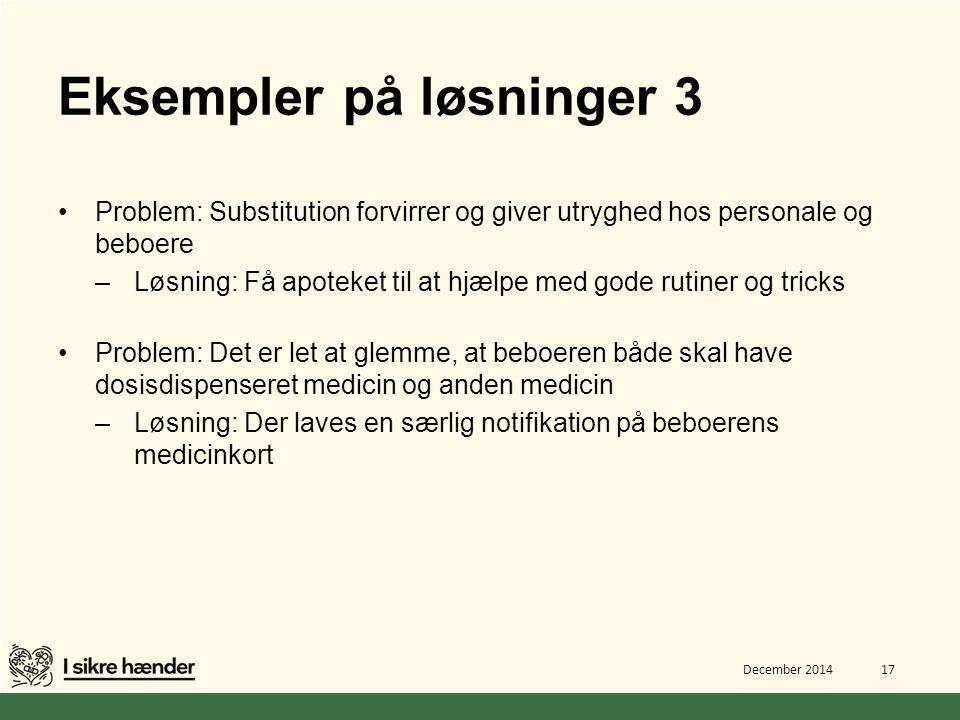 Eksempler på løsninger 3