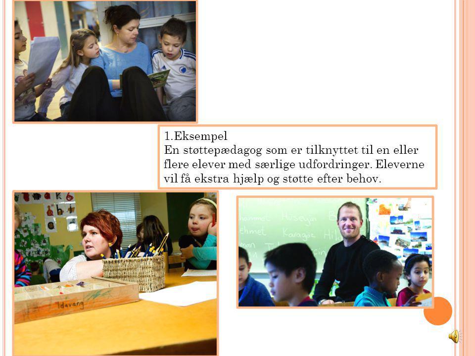 1.Eksempel En støttepædagog som er tilknyttet til en eller flere elever med særlige udfordringer.