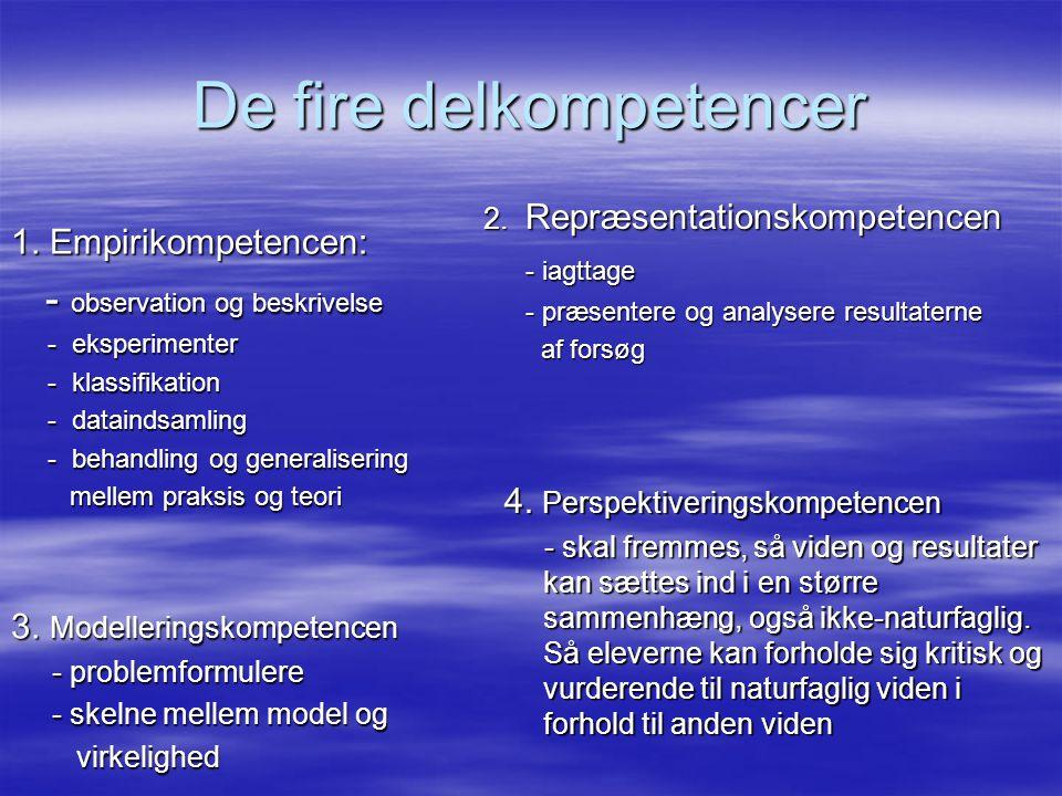 De fire delkompetencer