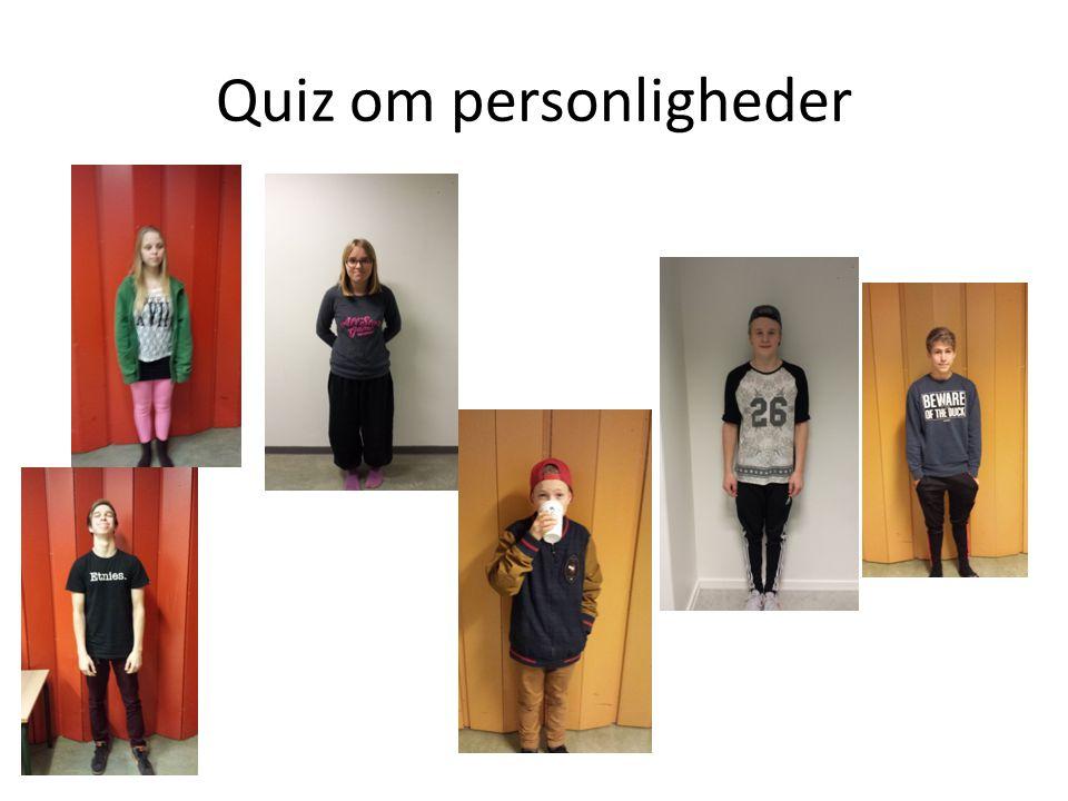 Quiz om personligheder