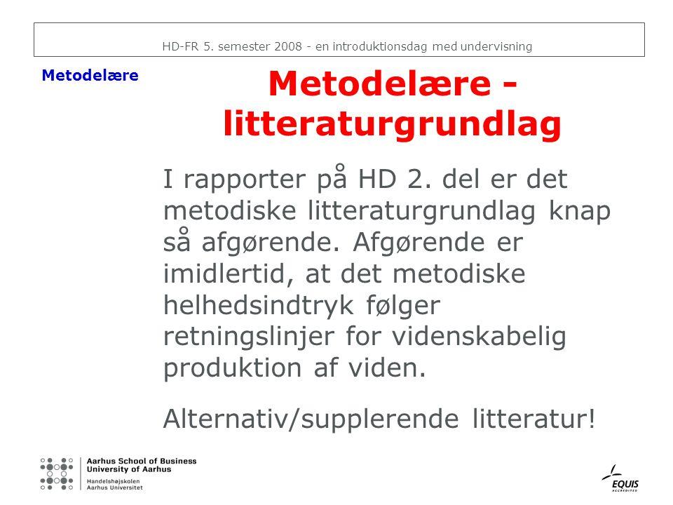 Metodelære - litteraturgrundlag