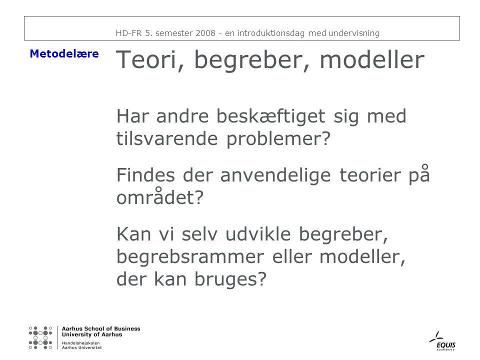 Teori, begreber, modeller