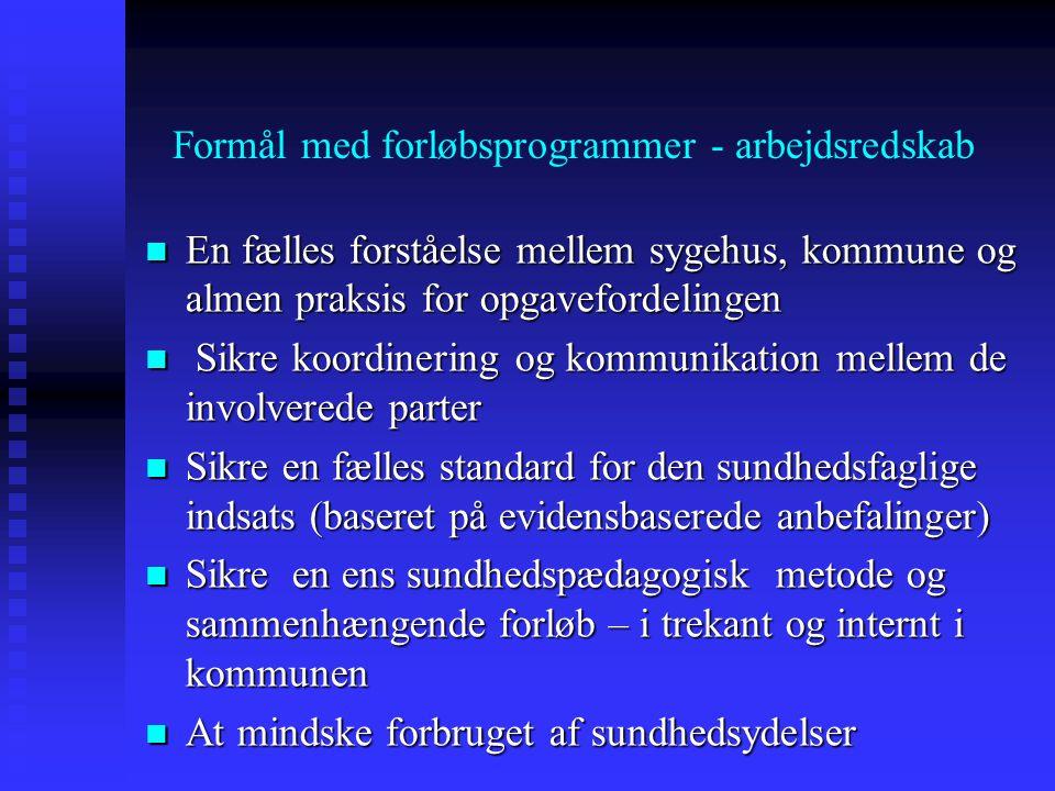 Formål med forløbsprogrammer - arbejdsredskab