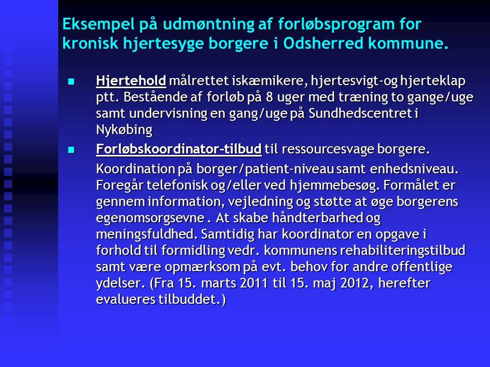 Eksempel på udmøntning af forløbsprogram for kronisk hjertesyge borgere i Odsherred kommune.