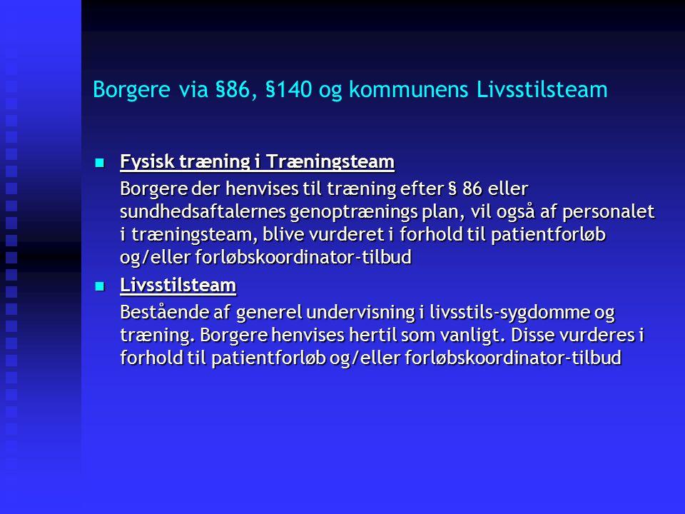 Borgere via §86, §140 og kommunens Livsstilsteam