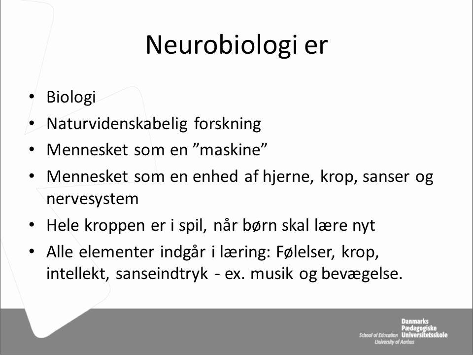 Neurobiologi er Biologi Naturvidenskabelig forskning