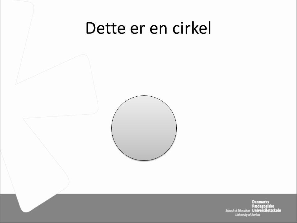 Dette er en cirkel
