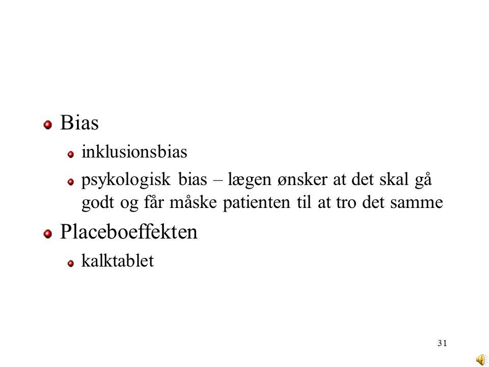 Bias Placeboeffekten inklusionsbias