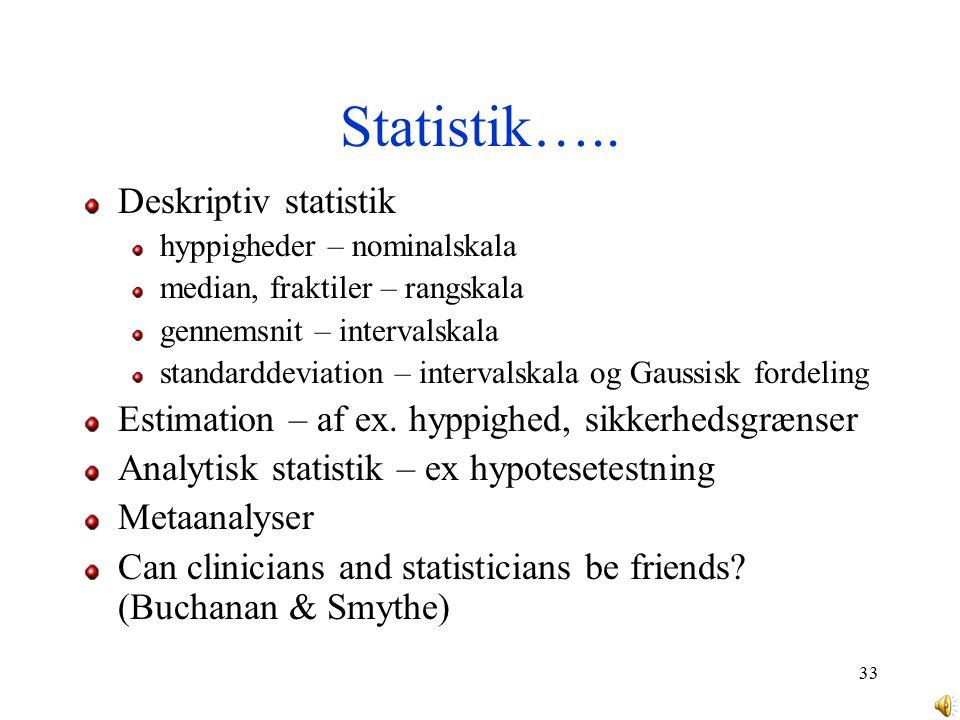 Statistik….. Deskriptiv statistik