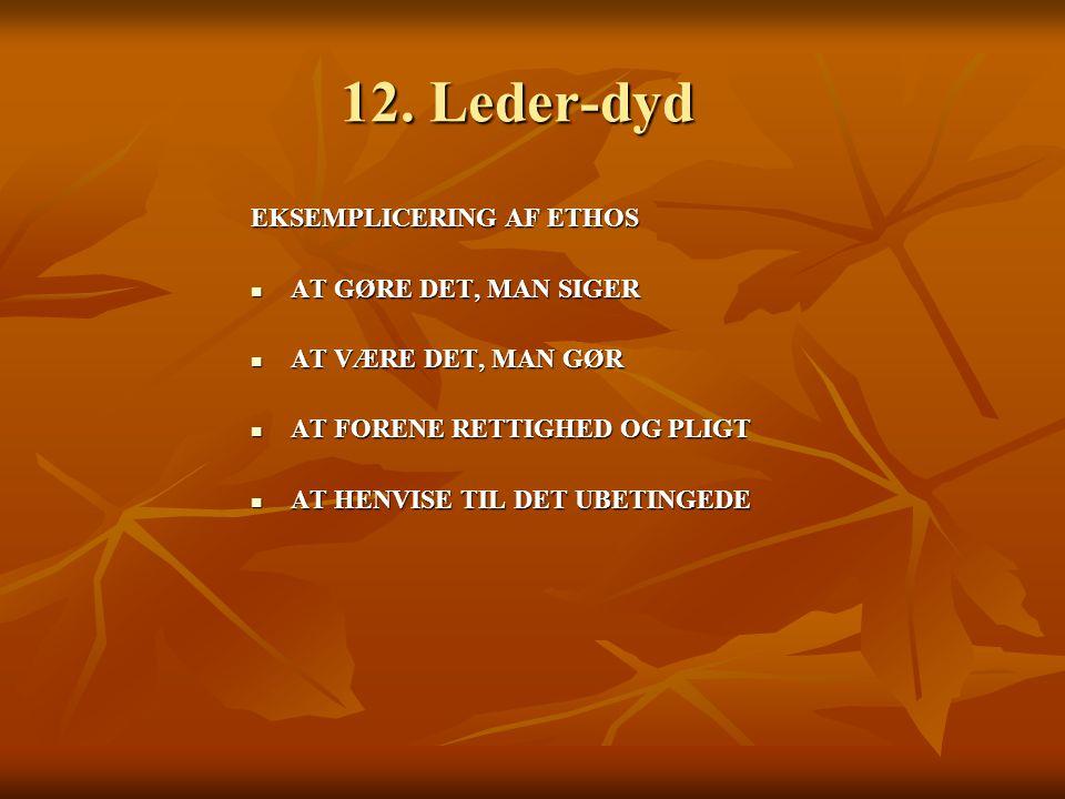 12. Leder-dyd EKSEMPLICERING AF ETHOS AT GØRE DET, MAN SIGER