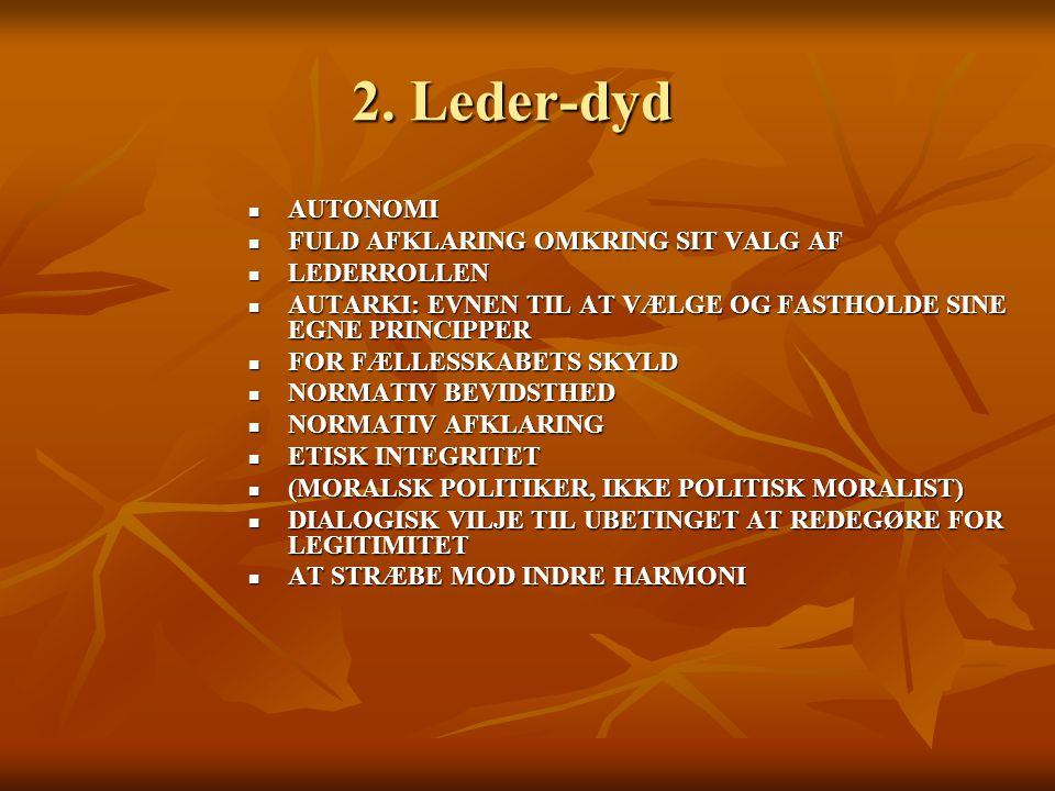 2. Leder-dyd AUTONOMI FULD AFKLARING OMKRING SIT VALG AF LEDERROLLEN