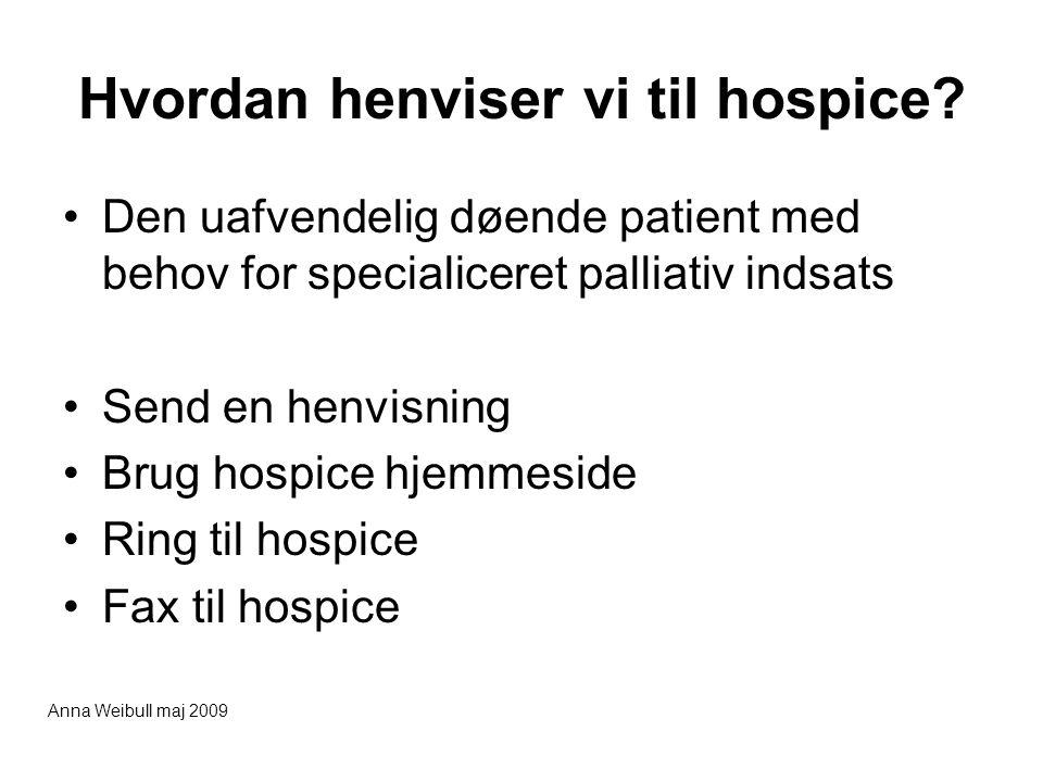Hvordan henviser vi til hospice