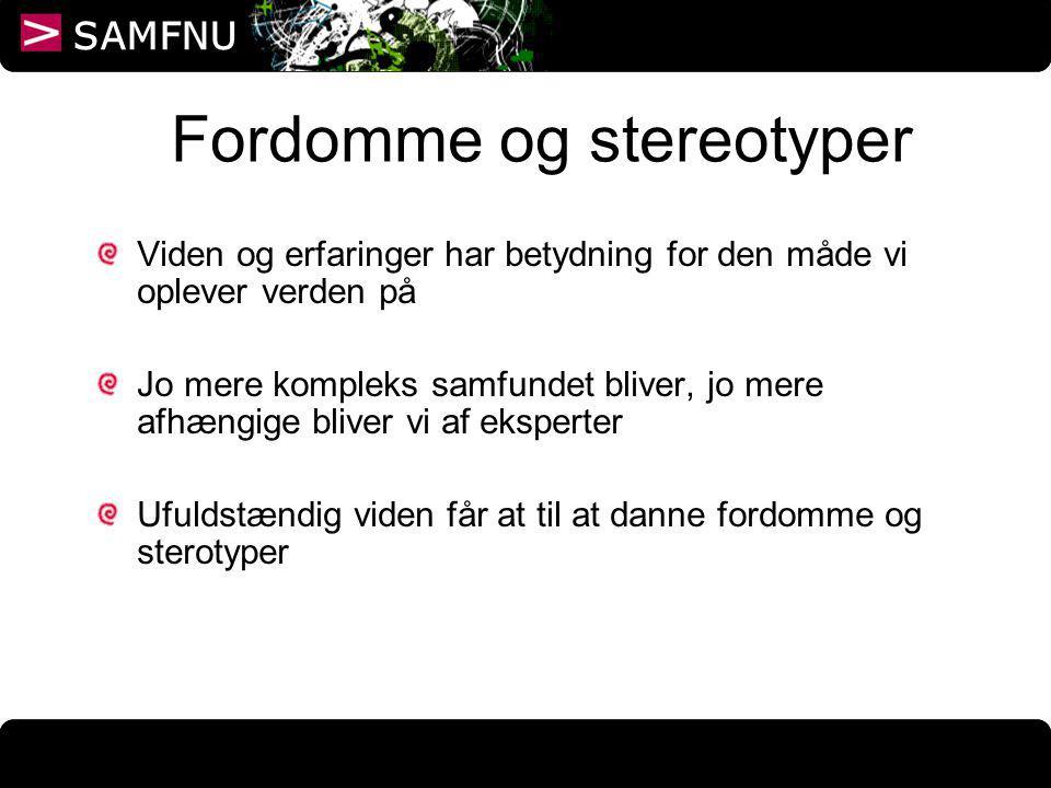 Fordomme og stereotyper