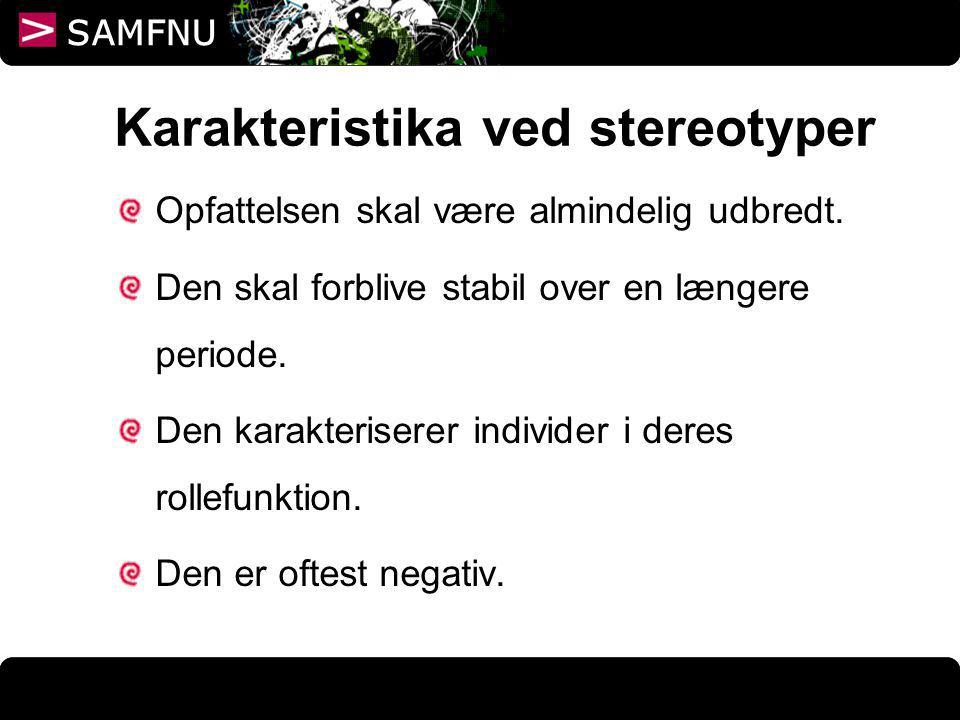Karakteristika ved stereotyper