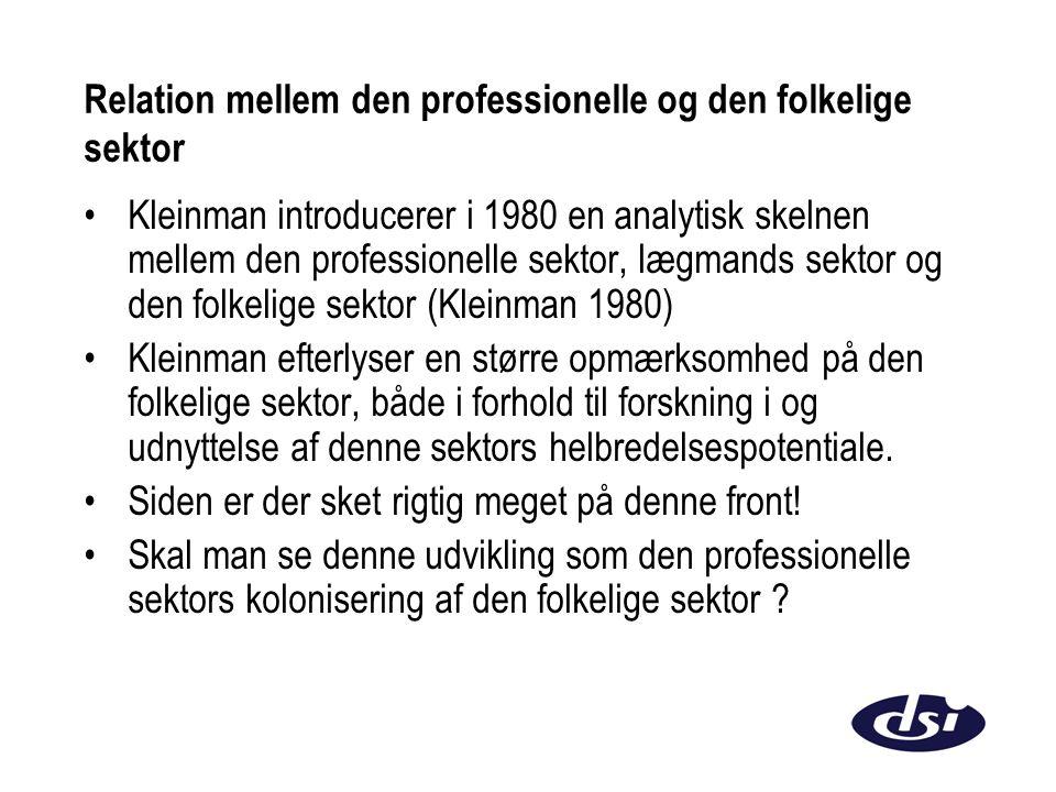 Relation mellem den professionelle og den folkelige sektor