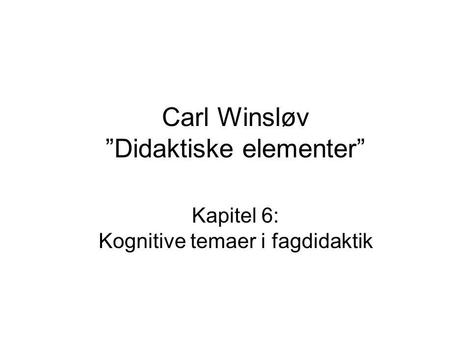 Carl Winsløv Didaktiske elementer