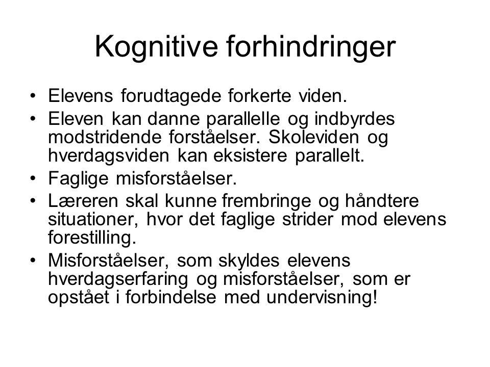 Kognitive forhindringer