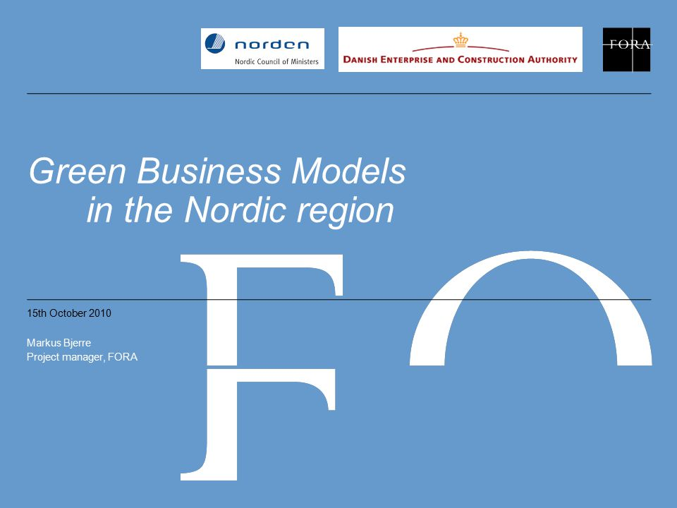 Green Business Models in the Nordic region