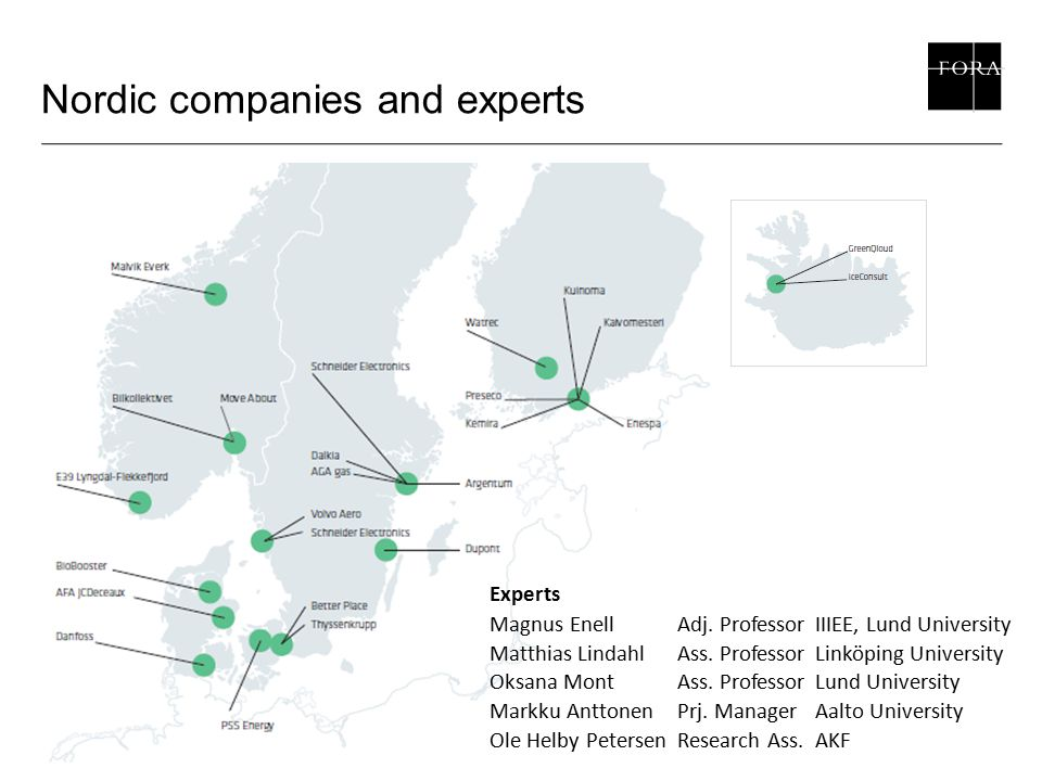 Nordic companies and experts