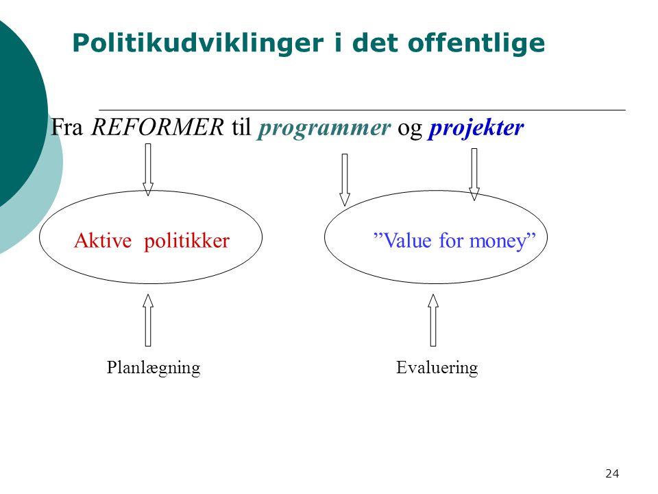 Politikudviklinger i det offentlige