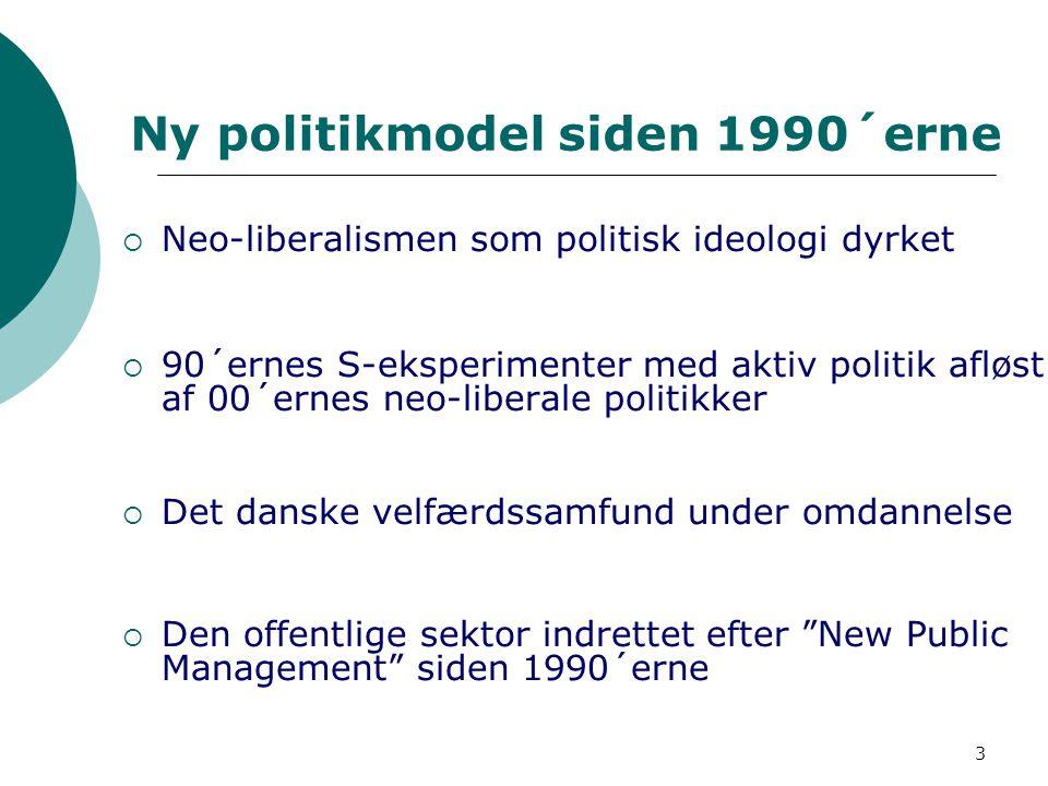 Ny politikmodel siden 1990´erne