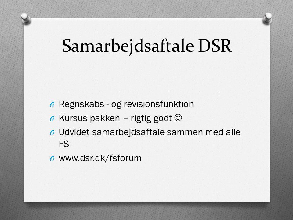 Samarbejdsaftale DSR Regnskabs - og revisionsfunktion