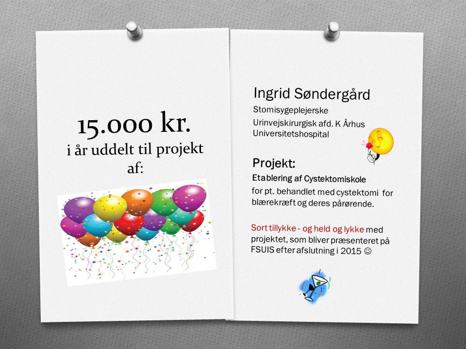 15.000 kr. i år uddelt til projekt af: