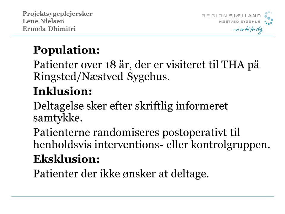 Projektsygeplejersker Lene Nielsen Ermela Dhimitri
