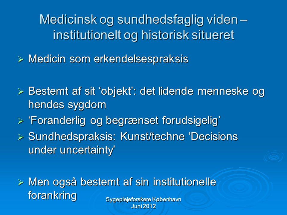 Sygeplejeforskere København Juni 2012