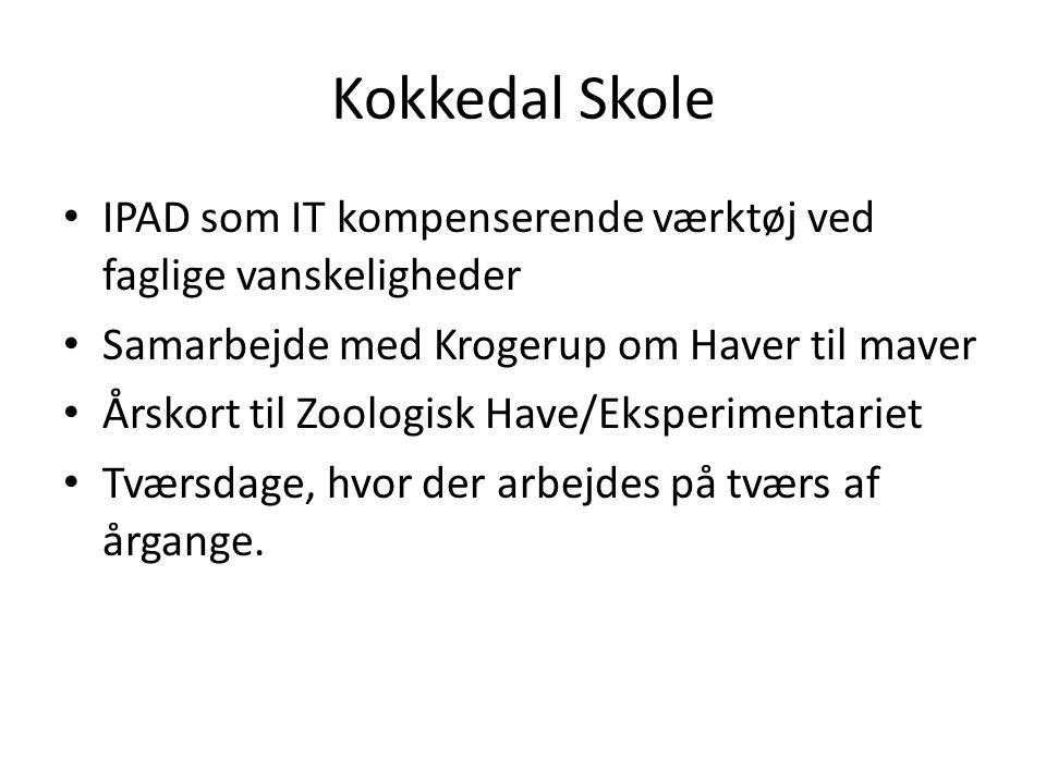 Kokkedal Skole IPAD som IT kompenserende værktøj ved faglige vanskeligheder. Samarbejde med Krogerup om Haver til maver.