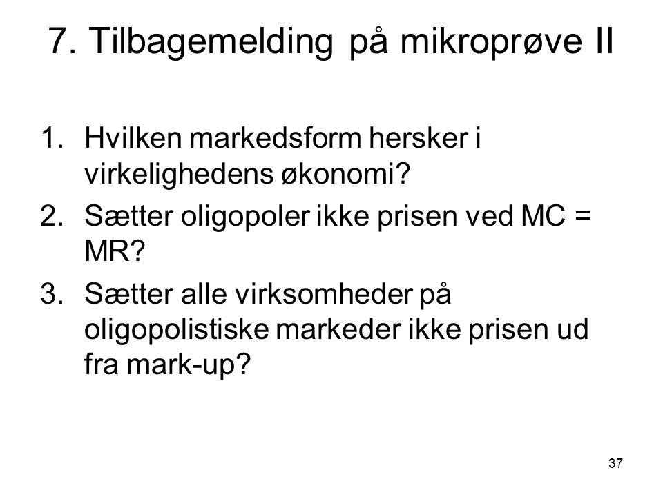 7. Tilbagemelding på mikroprøve II