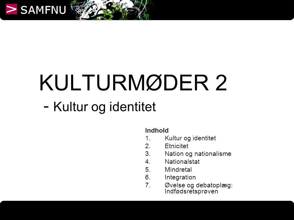 KULTURMØDER 2 - Kultur og identitet