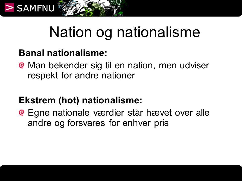 Nation og nationalisme