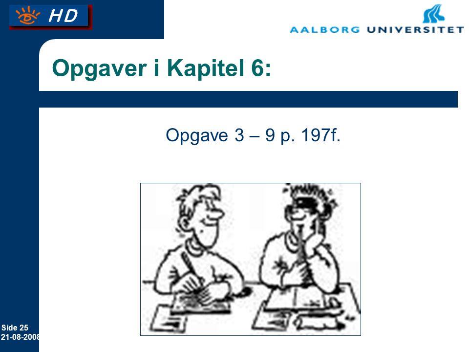 Opgaver i Kapitel 6: Opgave 3 – 9 p. 197f.