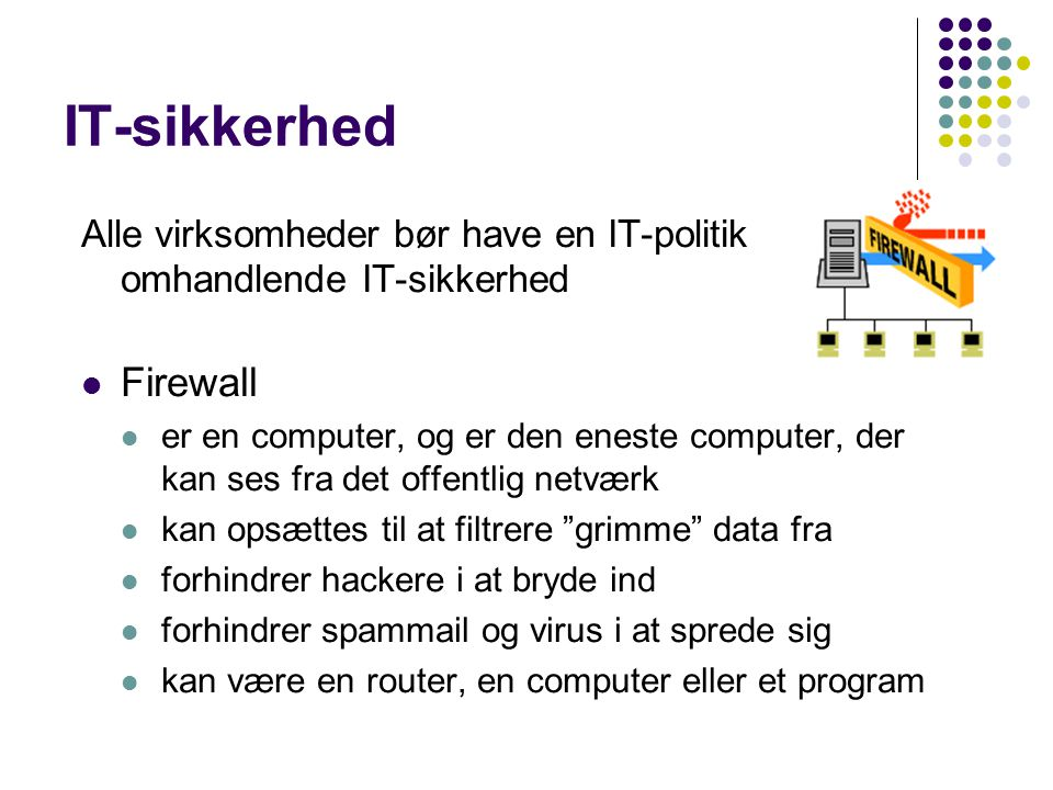IT-sikkerhed Firewall