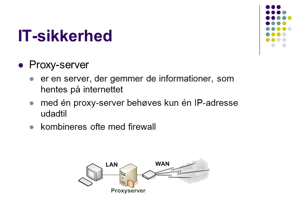 IT-sikkerhed Proxy-server