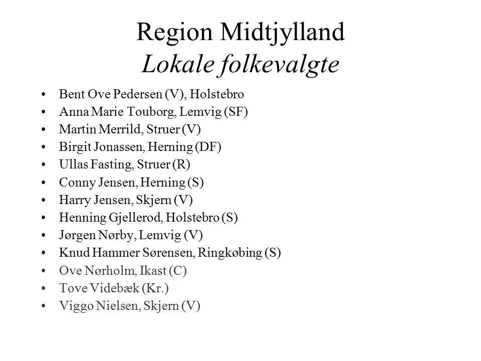 Region Midtjylland Lokale folkevalgte