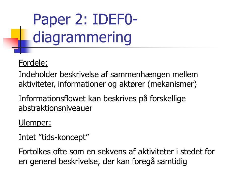 Paper 2: IDEF0-diagrammering
